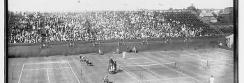 The first ever tennis match at the Church…